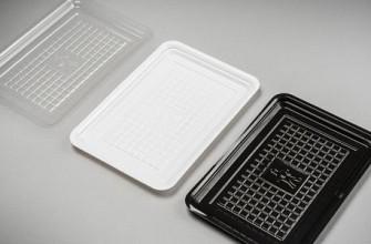 Vleeswarenschaal apet 12x18 zwart 3000 stuks