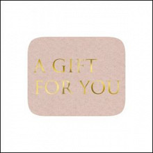 Etiket / Sticker zand met goud A Gift For You 500 stuks