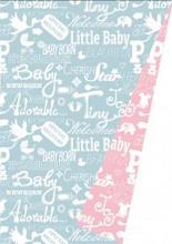 Cadeaupapier 30cm K601449/1-30 Baby Chalkboard Light Pink/Light Blue 30 cm