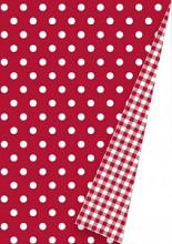 Cadeaupapier 30cm K60913/65-30 dots red/vichy red 30 cm