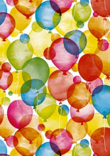 Cadeaupapier 30cm K601660-30 watercolour balloons 30cm