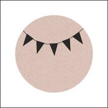 Etiket / Sticker zand met zwarte slinger 500 stuks groot