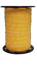 Paaslint HAPPY EASTER 10mm 250 mtr wit pasen