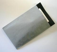 Cadeauzakjes 12x19cm 250 stuks kraft zilver/ binnenzijde zwart