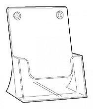 Folderbak acryl A4 staand
