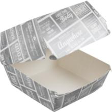 Krijtbord hamburger bakje karton L 120x120x100mm  100 stuks