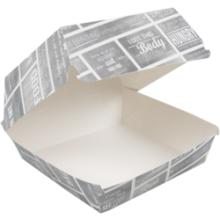 Krijtbord hamburger bakje karton M 115x115x70mm  100 stuks