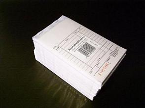Kassablok met doorslag + nummer met carbon en rekenkolommen 10 stuks