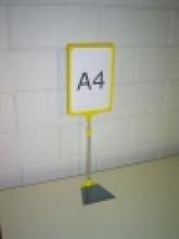 Prijskaartraam A4 verstelbaar geel compleet