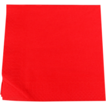 Servetten 33x33cm 2 laags 100 stuks rood