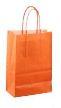 Papieren koordtas 14x08x21cm 50st Oranje