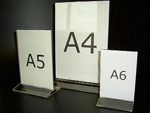 Menustandaard A4 acryl 21x30cm