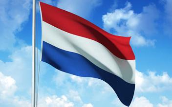 Vlag nederland stof 200x300cm