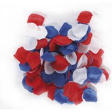 Rozenblaadjes rood wit blauw 144st