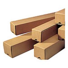 Kartonnen verzendkoker vierkant 435x105x105mm bruin per stuk