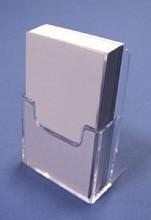 Visitekaartjes standaard acryl vertikaal
