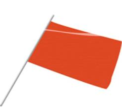 Zwaaivlag oranje 20x30cm 50st