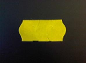 Prijsrol contact permanent 26x12 g2 1500st geel antidiefstal