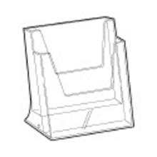 Folderbak acryl A5 staand 2-vaks