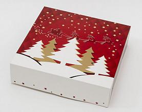 Kransdoos kerst Twinkle 227x227x60mm 1 pond 100 stuks
