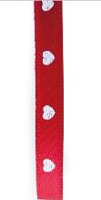 Lint valentijn small hearts rood 100m x 6mm