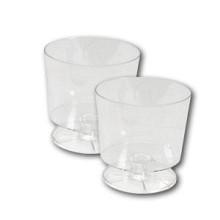 Glas borrel op voet plastic transparant ps 50cc 20 stuks