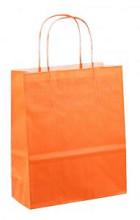 Papieren koordtas 18x08x22cm 50st oranje