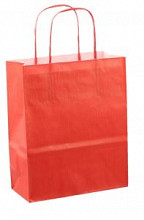 Papieren koordtas 18x08x22cm 50st rood