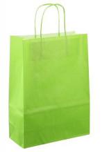 Papieren koordtas 22x10x31cm 50st licht groen