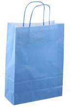 Papieren koordtas 22x10x31cm 50st blauw
