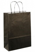 Papieren koordtas 22x10x31cm 50st zwart