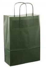 Papieren koordtas 22x10x31cm 50st donker groen