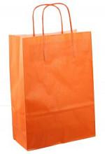 Papieren koordtas 22x10x31cm 50st oranje