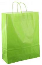 Papieren koordtas 32x12x41cm 50st licht groen