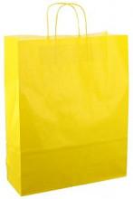 Papieren koordtas 32x12x41cm 50st fel geel