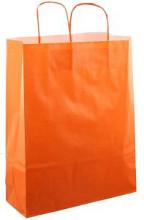 Papieren koordtas 32x12x41cm 50st oranje