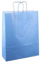 Papieren koordtas 32x12x41cm 50st blauw
