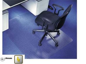 Bureaustoel mat transparant met noppen 90x120cm