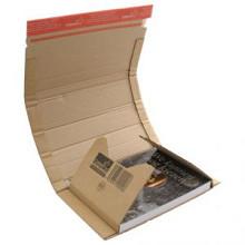 Boekverpakking 300x220x35/80mm varierend hoogte per stuk bruin