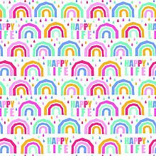 Cadeaupapier 50cm dessin 469 Paperwise  Happy Life