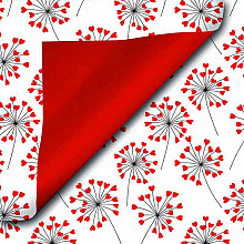 Cadeaupapier 30cm dessin 517 Royal Love Flower