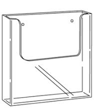 Folderbak acryl A5 transparant wand apollo