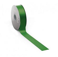 Satijnlint PREMIUM Double face 25mm x 25 meter emerald / green