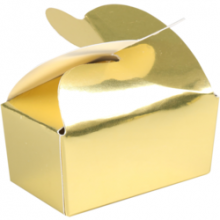 Vlinderballotins goud 2 bonbons 50 stuks