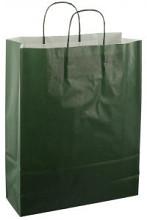 Papieren koordtas 32x12x41cm 50st donker groen