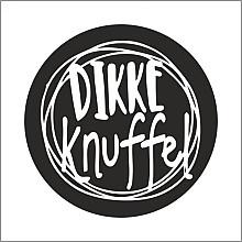 Etiket / Sticker   zwart -wit  'Dikke knuffel ' 500 stuks