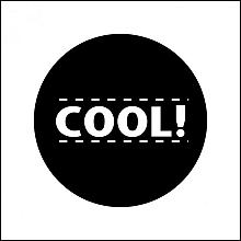 Etiket / Sticker   wit-zwart 'Cool' 500 stuks