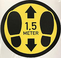 ( Corona) slijtvast vloer vinyl:  Rond 30cm voeten 1.5 METER AFSTAND  geel- zwart