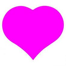 Etiket / Sticker Hart fluor roze 500 stuks