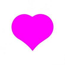 Etiket / Sticker Hart fluor roze klein 500 stuks